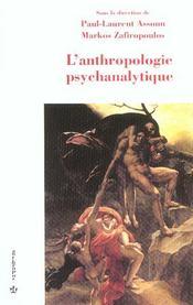 L'Anthropologie Psychanalytique - Intérieur - Format classique