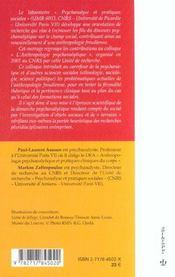 L'Anthropologie Psychanalytique - 4ème de couverture - Format classique