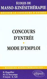 Concours D'Entree Mode D'Emploi - Intérieur - Format classique