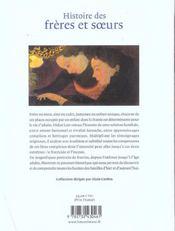 Histoire Des Freres Et Soeurs - 4ème de couverture - Format classique