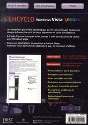 L'encyclovisuel windows vista - 4ème de couverture - Format classique