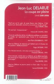 Delarue ; La Coupe Est Pleine - 4ème de couverture - Format classique