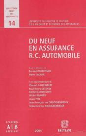 Du Neuf En Assurance Rc Automobile - Couverture - Format classique