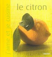 Le citron - Intérieur - Format classique