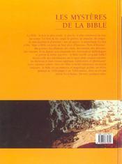 Les Mysteres De La Bible - 4ème de couverture - Format classique