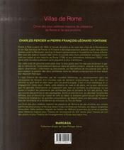 Villas de rome - 4ème de couverture - Format classique