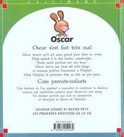Oscar s'est fait tres mal - 4ème de couverture - Format classique