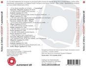 Notes et lettres de Mozart - 4ème de couverture - Format classique