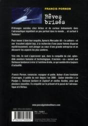 Rêves brisés - 4ème de couverture - Format classique