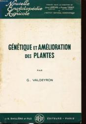 Genetique Et Amelioration Des Plantes - Couverture - Format classique