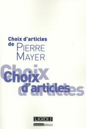 Choix d'articles - Couverture - Format classique