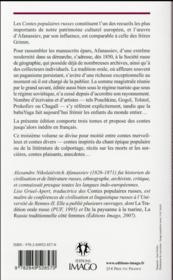 Contes populaires russes t.3 (2e édition) - 4ème de couverture - Format classique