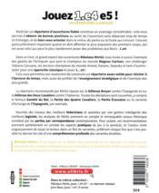 Jouez 1.E4 E5 ! un répertoire classique - 4ème de couverture - Format classique