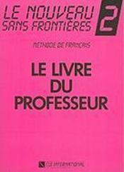 Le nouveau sans frontières ; niveau 2 ; livre du professeur - Couverture - Format classique