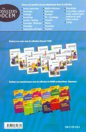 Nephrologie Dossiers Originaux Annales Et Dossiers Transversaux Corriges Et Commentes Iconographie - 4ème de couverture - Format classique