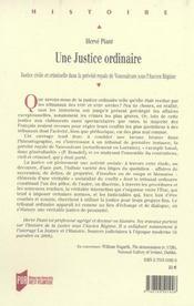 Une justice ordinaire justice civile et criminelle dans la prevote royale de vaucouleurs sous l'anci - 4ème de couverture - Format classique
