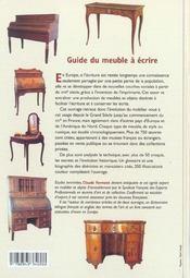 Guide du meuble a ecrire - 4ème de couverture - Format classique