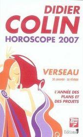 Horoscope 2007 ; Verseau - Intérieur - Format classique