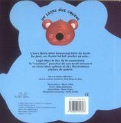 Boris l'ours - 4ème de couverture - Format classique