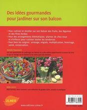 Le balcon gourmand - 4ème de couverture - Format classique