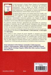 Droit processuel ; droits fondamentaux du procès (6e édition) - 4ème de couverture - Format classique