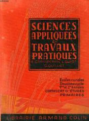 SCIENCES APPLIQUEES ET TRAVAUX PRATIQUES, 2e CYCLE, 1re ET 2e ANNEES, CEP, ECOLES RURALES - Couverture - Format classique
