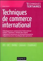 Techniques de commerce international - Couverture - Format classique