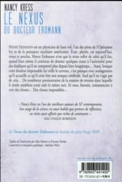 Le nexus du Docteur Erdmann - 4ème de couverture - Format classique