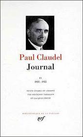 Journal t.2 ; 1933-1955 - Intérieur - Format classique