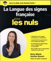 La langue des signes pour les nuls - Couverture - Format classique