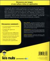 La langue des signes pour les nuls - 4ème de couverture - Format classique