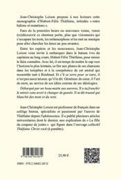 Hubert-Félix Thiefaine : entre balises et mutations - 4ème de couverture - Format classique