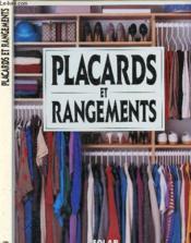 Placards & rangements -anc edit - Couverture - Format classique