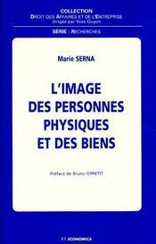 L'Image Des Personnes Physiques Et Des Biens - Couverture - Format classique