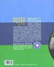 Mondes rebelles junior - 4ème de couverture - Format classique