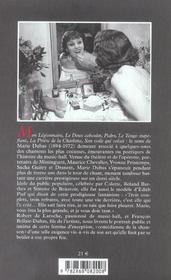 Marie Dubas - 4ème de couverture - Format classique