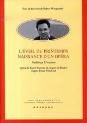 L'éveil du printemps, naissance d'un opéra - Intérieur - Format classique