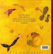Coeur d'alice - 4ème de couverture - Format classique