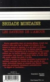 Brigade mondaine t.305 ; les saveurs de l'amour - 4ème de couverture - Format classique