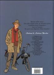 Jérôme K. Jérôme Bloche T.19 ; un chien dans un jeu de quilles - 4ème de couverture - Format classique