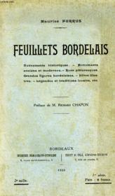 Feuillets Bordelais - Couverture - Format classique