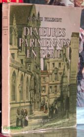 Demeures parisiennes en péril. - Couverture - Format classique