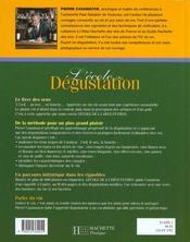 L'Ecole De La Degustation - 4ème de couverture - Format classique