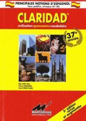 Claridad ; grammaire, civilisation, vocabulaire (5e édition) - Couverture - Format classique