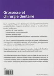 Grossesse et chirurgie dentaire - 4ème de couverture - Format classique