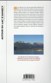 Autour du lac d'Annecy ; les plus belles randonnées - 4ème de couverture - Format classique