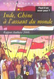 Inde, Chine, à l'assaut du monde ; rapport Antheios 2006 - Intérieur - Format classique