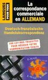 La correspondance commerciale en allemand - Couverture - Format classique