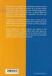Thinking and writing processes in english ; manuel d'expression écrite - 4ème de couverture - Format classique