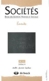 REVUE SOCIETES N.94 ; émeutes - Couverture - Format classique